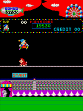 Thumb image for Circus Charlie (level select, set 1) mame emulator game