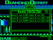 Thumb image for Diamond Derby (Original) mame emulator game