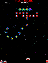 Thumb image for Galaga (Midway set 1 with fast shoot hack) mame emulator game