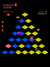 Thumb image for Mello Yello Q*bert mame emulator game