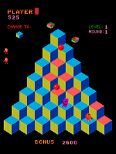 Thumb image for Faster, Harder, More Challenging Q*bert (prototype) (sample of: qbert) mame emulator game